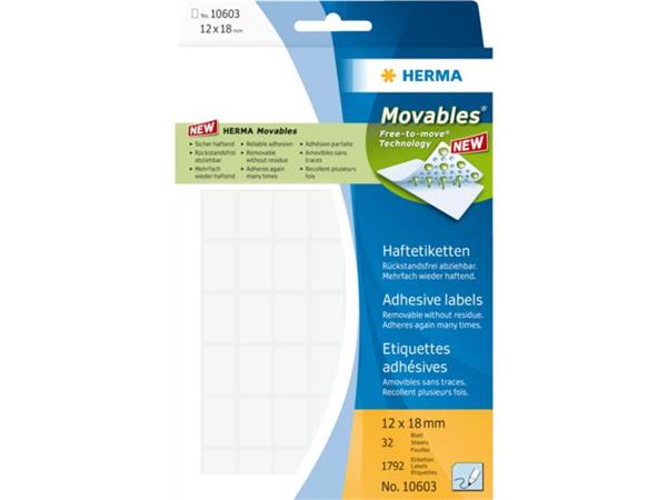 ETIKET HERMA MOVABLE 10603 12X18MM 1792ST