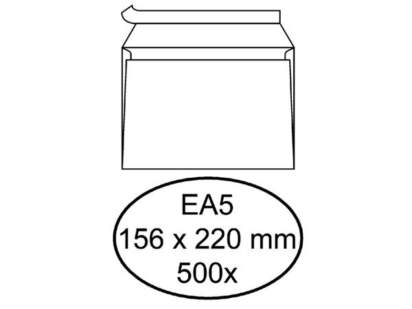 ENVELOP HERMES BANK EA5 156X220MM ZELFKLEVEND WIT