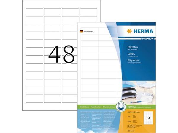 ETIKET HERMA 4271 48.3X16.9MM PREMIUM A4 6400ST