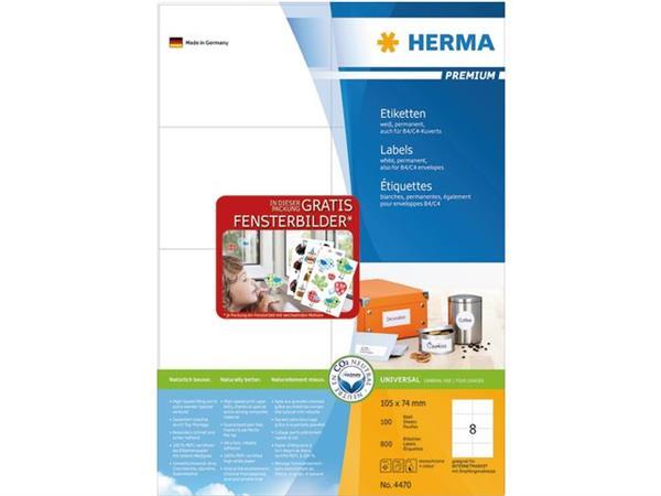 ETIKET HERMA 4470 105X74MM PREMIUM A4 800ST