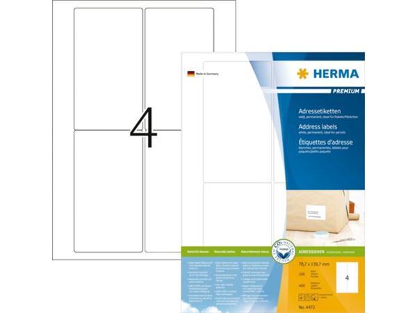 ETIKET HERMA 4472 78.7X139.7MM PREMIUM A4 400ST