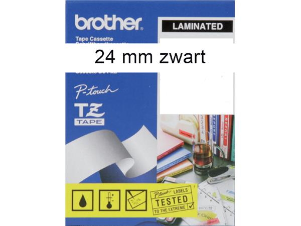 LABELTAPE BROTHER TZE-251 24MMX8M WIT/ZWART