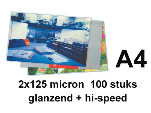 LAMINEERHOES GBC A4 HI-SPEED 2X125MICRON