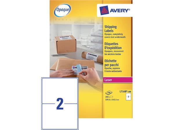 ETIKET AVERY L7168-100 199.6X143.5MM 200ST