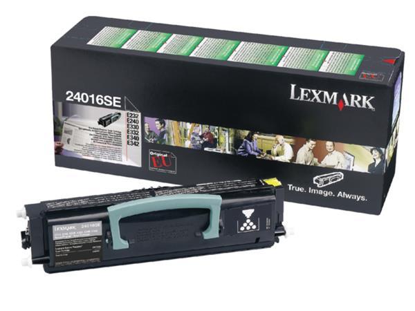TONERCARTRIDGE LEXMARK 24016SE PREBATE 2.5K ZWART
