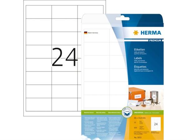 ETIKET HERMA 5053 66X33.8MM PREMIUM A4 600ST