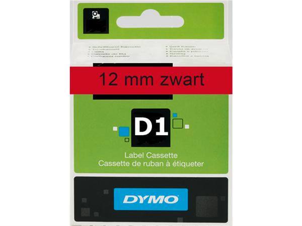 LABELTAPE DYMO 45017 12MMX7M D1 ROOD/ZWART