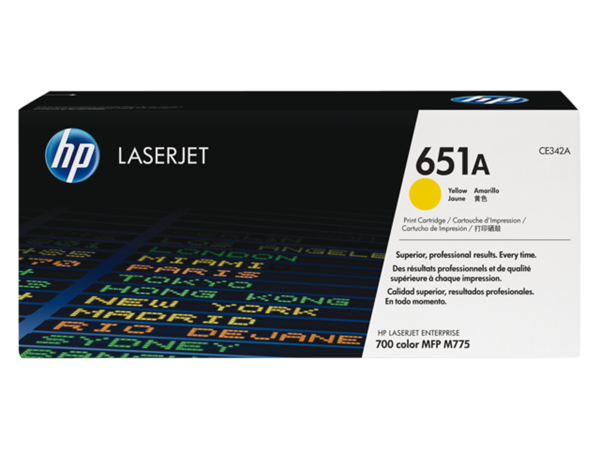 TONERCARTRIDGE HP 651A CE342A 16K GEEL