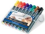 Staedtler permanent marker Lumocolor 350, doos met 8 stuks in geassorteerde kleuren