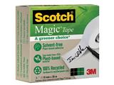 "Plakband Magic Tape ""A greener choice"" ft 19 mm x 30 m, doos met 1 rolletje"