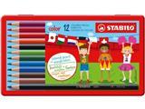 Stabilo kleurpotlood color, 12 potloden in een metalen doos