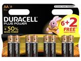 Duracell batterijen Plus Power AA, blister van 6+2 gratis