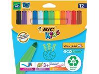 Bic Kids Viltstift Visacolor XL Ecolutions 12 stiften in een kartonnen etui