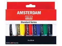 Amsterdam acrylverf tube van 20 ml, blister met 6 tubes