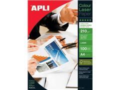 Apli fotopapier Colour Laser ft A4, 210 g, pak van 100 vel