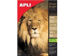 Apli fotopapier Photo Bright ft A4, 240 g, pak van 20 vel