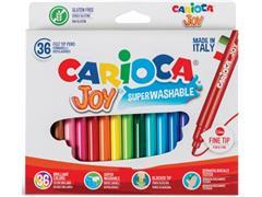 Carioca viltstift Superwashable Joy, 36 stiften in een kartonnen etui