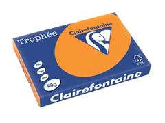 Clairefontaine Trophée Intens A3, 80 g, 500 vel, fluo oranje