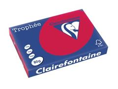 Clairefontaine Trophée Intens A3, 80 g, 500 vel, kersenrood