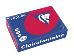 Clairefontaine Trophée Intens A4, 210 g, 250 vel, kersenrood