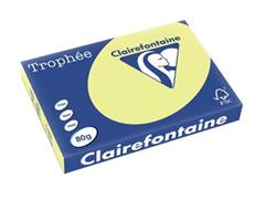 Clairefontaine Trophée Pastel A3, 80 g, 500 vel, citroengeel