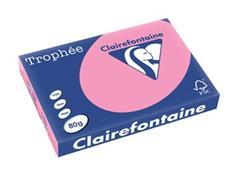 Clairefontaine Trophée Pastel A3, 80 g, 500 vel, felroze