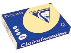 Clairefontaine Trophée Pastel A4, 120 g, 250 vel, kanariegeel