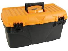 Perel gereedschapskoffer, ft 43,2 x 25 x 23,8 cm, leeg geleverd, zwart/geel