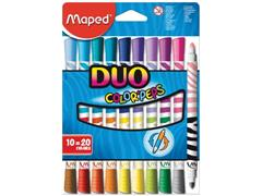 Maped Viltstift Color'Peps Duo, blister met 10 stuks