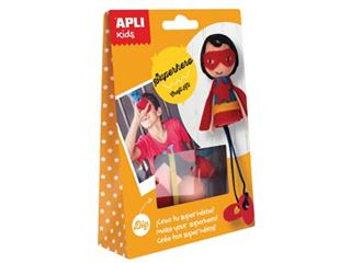 Apli Kids craft kit, op blister, superheld