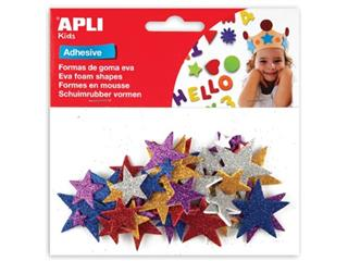 Apli Kids zelfklevende glitter sterren, blister met 50 stuks