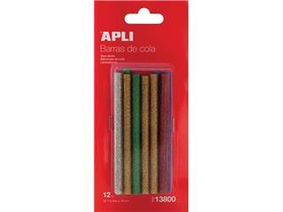Apli glitter lijmpatronen 7,5 mm, blister met 12 stuks