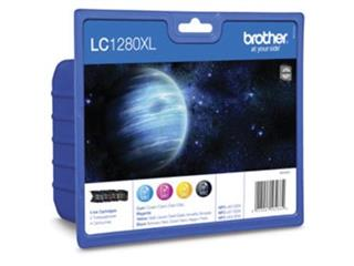 Brother inktcartridge 4 kleuren, 1200-2400 pagina's - OEM: LC-1280XLVALBPDR