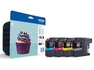 Brother inktcartridge 4 kleuren, 600 pagina's - OEM: LC-123VALBPDR