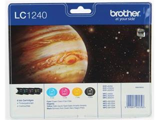 Brother inktcartridge 4 kleuren, 600 pagina's - OEM: LC-1240VALBP