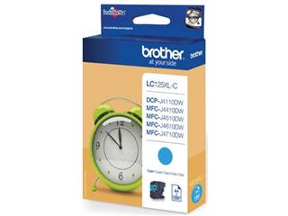 Brother inktcartridge cyaan, 1200 pagina's - OEM: LC-125XLC