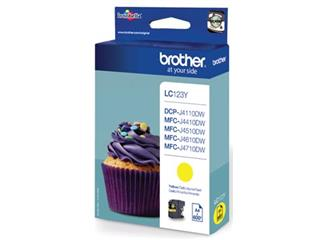 Brother inktcartridge geel, 600 pagina's - OEM: LC-123Y