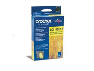 Brother inktcartridge geel, 750 pagina's - OEM: LC-1100HYY