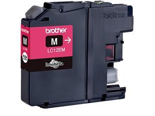Brother inktcartridge magenta, 1.200 pagina's - OEM: LC-12EM