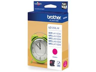 Brother inktcartridge magenta, 1200 pagina's - OEM: LC-125XLM