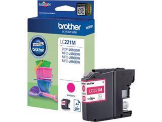 Brother inktcartridge magenta, 260 pagina's - OEM: LC-221MBP