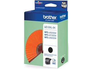 Brother inktcartridge zwart, 2400 pagina's - OEM: LC-129XLBK