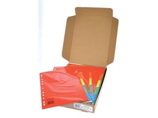 Class'ex tabbladen 5 tabs, 11-gaats perforatie, karton, geassorteerde felle kleuren