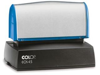 Colop EOS 45 stempel, inclusief zwarte cartridge + absorberend schuim