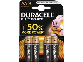 Duracell batterijen Plus Power AA, blister van 4 stuks