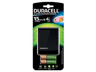 Duracell batterijlader Hi-Speed Advanced Charger, inclusief 2 AA en 2 AAA batterijen, op blister