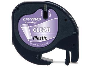 Dymo LetraTAG plastic tape 12 mm, transparant