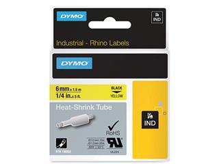 Dymo RHINO krimpkous 6 mm, zwart op geel