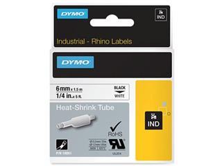 Dymo RHINO krimpkous 6 mm, zwart op wit