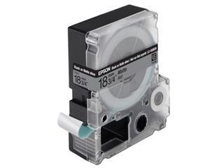 Epson tape 18 mm, zwart op mat zilver